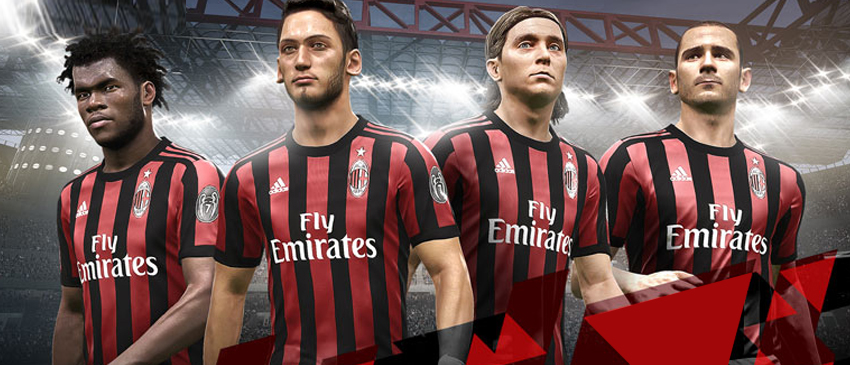 PES 2018 | KONAMI e AC Milan anunciam parceria global!