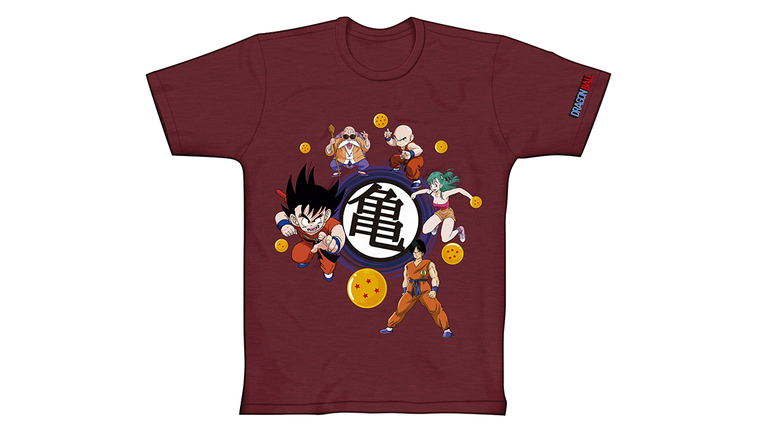 6c418b523 ... uma estampa com os personagens da saga clássica de Dragon Ball. Na  estampa