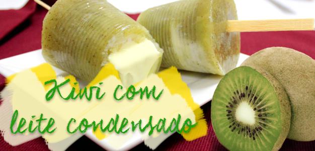 kiwi com leite condensado