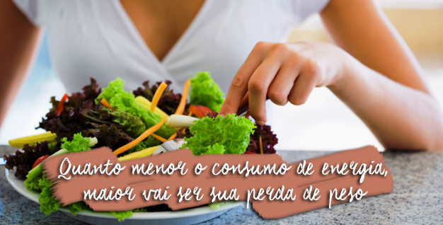 menor consumo de energia maior perda de peso