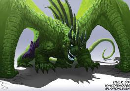 Imagine super heróis se transformado em dragões!
