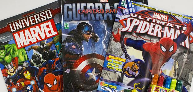 Livro de atividades dos Vingadores e Homem Aranha!