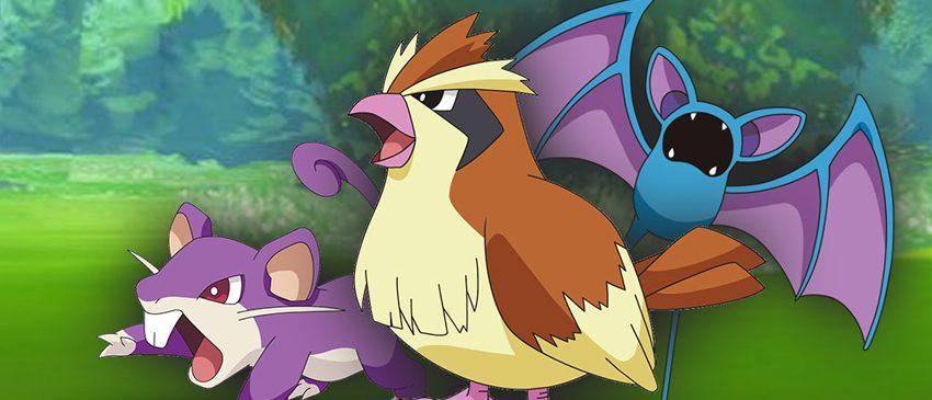 Chega de Pidgey, Rattata e Zubat em Pokémon Go!