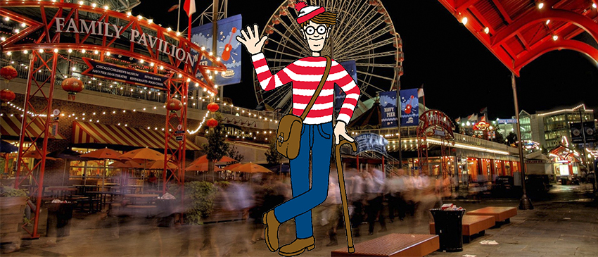 A quase impossível tarefa de achar o Wally em 360º!