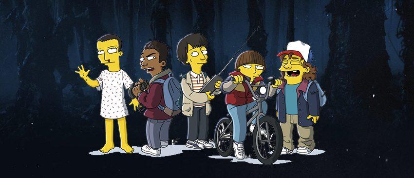 Stranger Things | Série ganha imagens nos moldes de Os Simpsons!