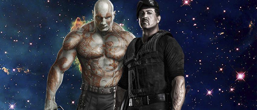 Guardiões da Galáxia Vol.2 | Stallone revela não ter encontrado Dave Bautista nos sets de filmagem!