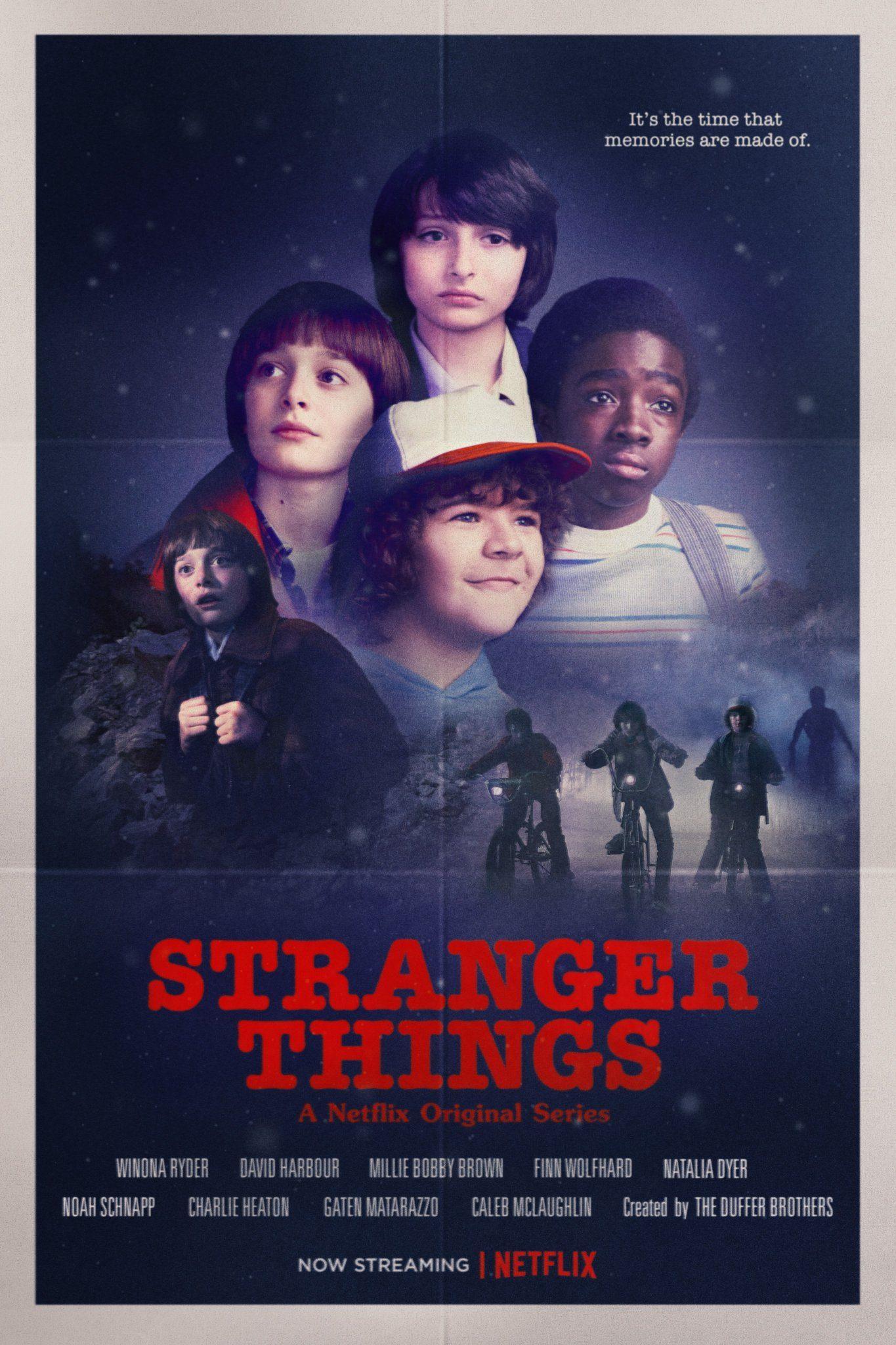 Poster Stranger Things Temporada 2 Conta Comigo
