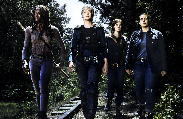 the walking dead michonne carol and maggie