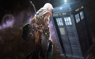 ASSASSIN'S CREED ORIGINS   Acharam uma referência a Doctor Who no jogo!