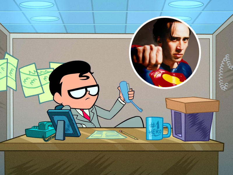 JOVENS TITÃS EM AÇÃO   Nicolas Cage será o Superman na animação!