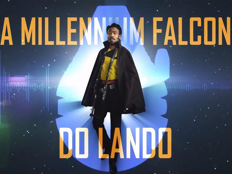 HAN SOLO   Faça um tour na Millenium Falcon ao lado de Donald Glover!