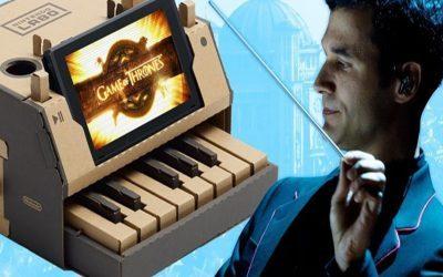 GAME OF THRONES | Abertura da série em um piano do Nintendo Labo?