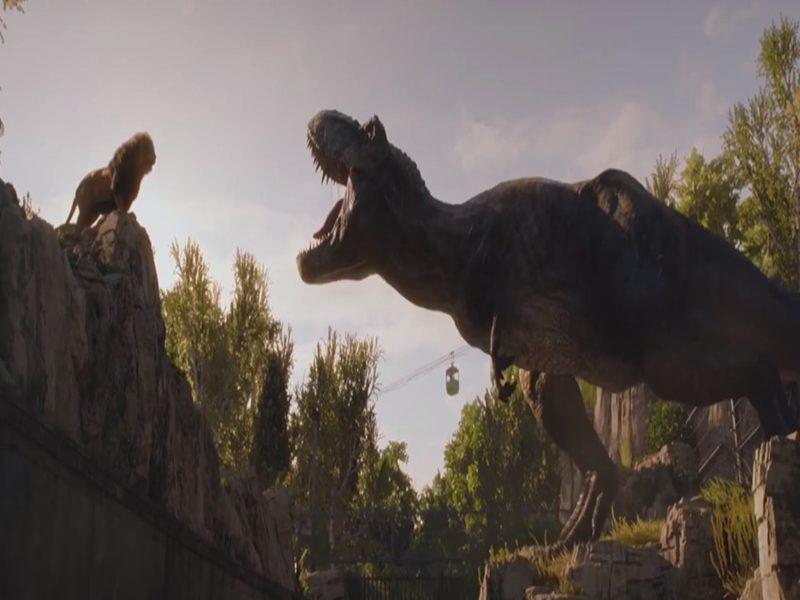 JURASSIC WORLD   Leão contra um T-Rex em novos comerciais