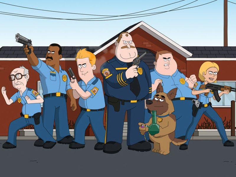 PARADAISE POLICE   Netflix e mais um desenho barra pesada com humor insano!