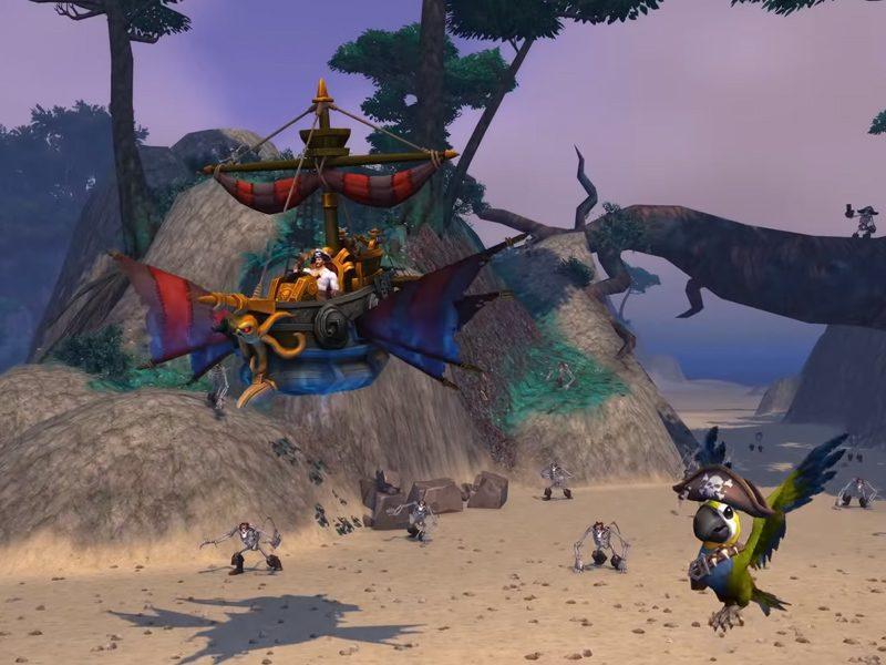 WORLD OF WARCRAFT | Um navio pirata e um papagaio são os novos itens do jogo!