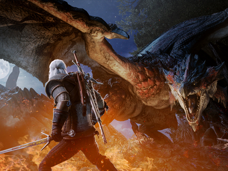 THE WITCHER | Jogo ganha crossover com Monster Hunter!