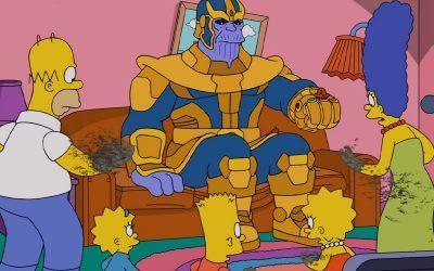 OS SIMPSONS | Thanos transforma família em pó em nova abertura!