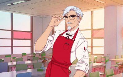 KFC | Coronel Sanders vai ser seu senpai em novo dating simulator oficial!