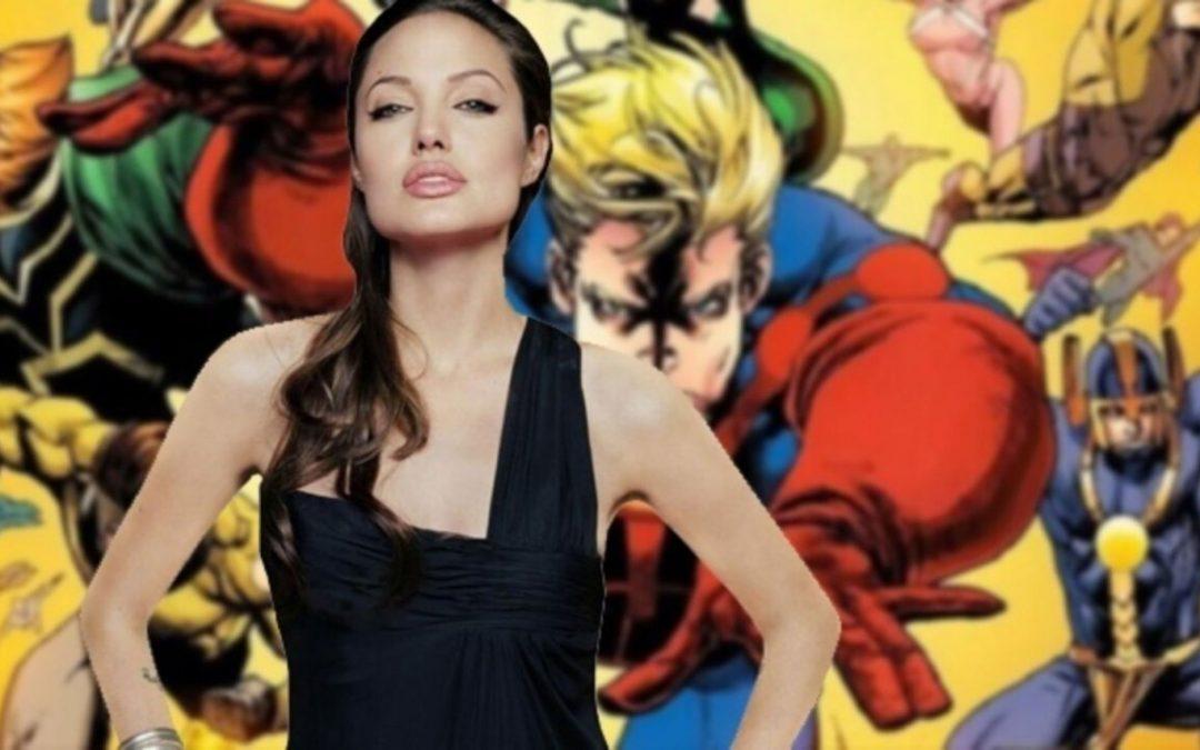OS ETERNOS | Veja as primeiras fotos de Angelina Jolie com o traje!