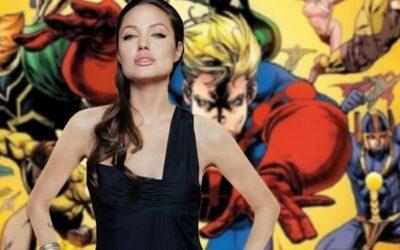 OS ETERNOS   Veja as primeiras fotos de Angelina Jolie com o traje!